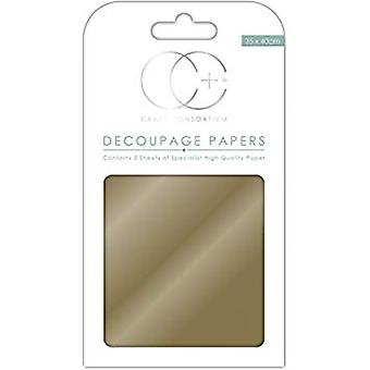 Craft Consortium Metallic Gold Decoupage Papers (CCMDECP001)