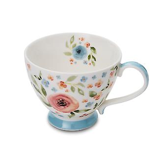 Cooksmart Country Floral Footed Mug