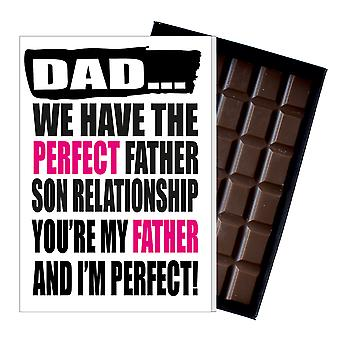 Funny Father's Day Gift From Son Chocolate Present Rude Card For Dad 135