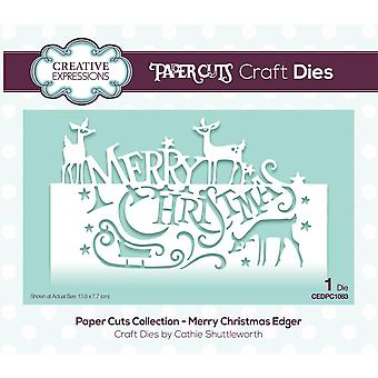 Creative Expressions Die Merry Christmas Festive Wording Edgers | Paper Cuts Collection
