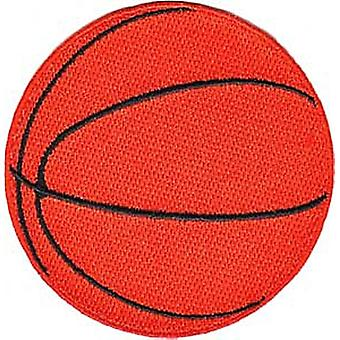 Basketball iron-on /  sew-on embroidered patch  (cv)