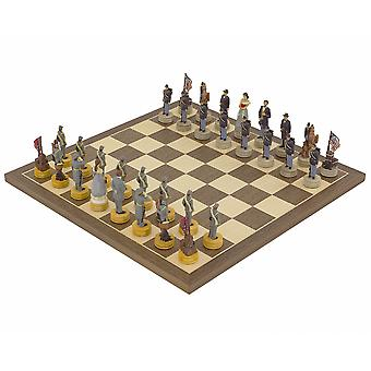 The American Civil War Hand painted themed Chess set by Italfama 2nd Edition