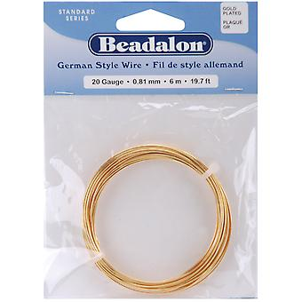 German Style Round Wire 20 Gauge 19.7 Feet Pkg Gold 180A 020