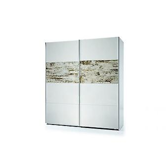 Bricohabitat Sliding Wardrobe Arc 2P (Harry) White gloss / Vintage 180x200x63 cm