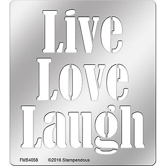FMS-4058 Liebe Stampendous Metall Schablone-Live
