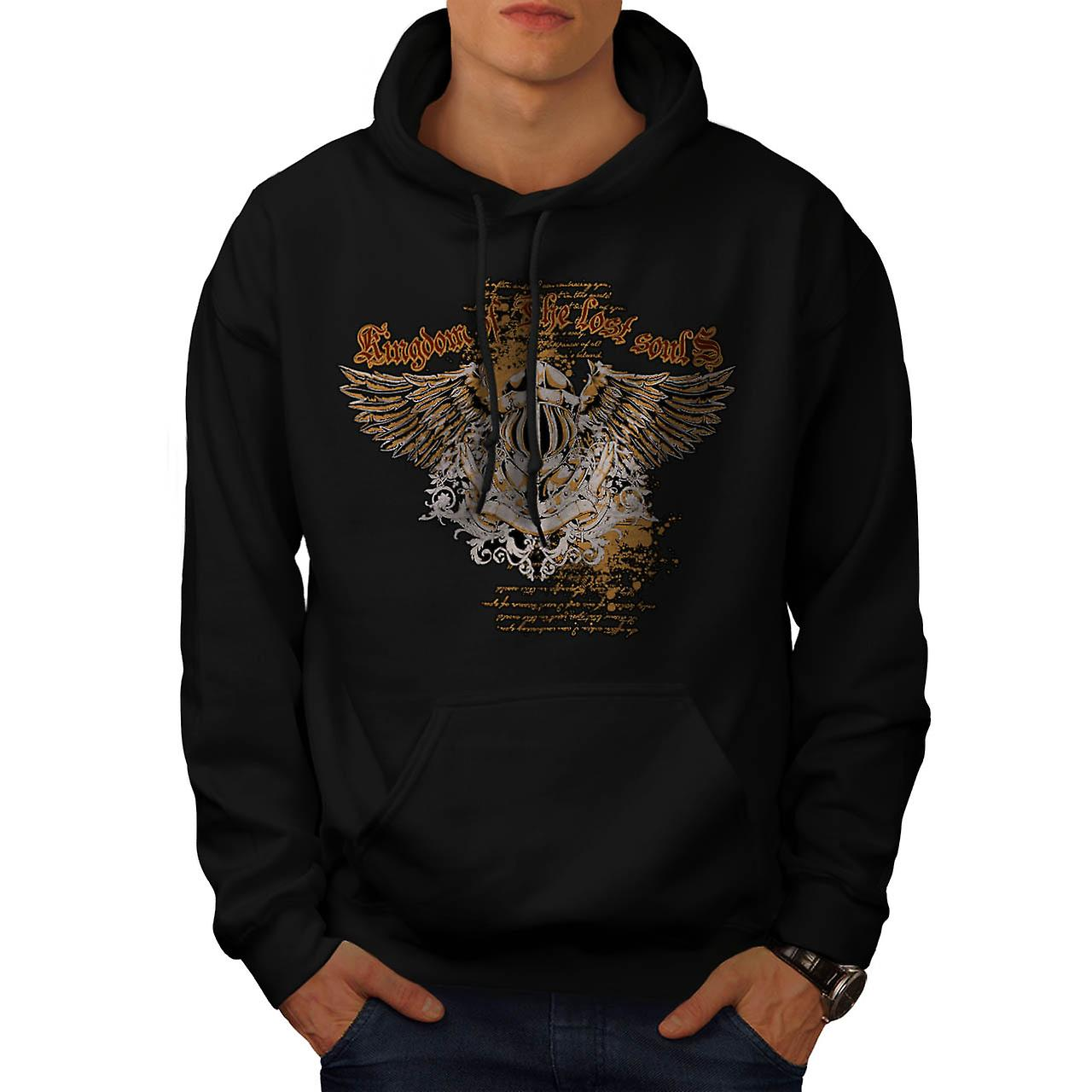 Kingdom Of Lost Souls Angel Wing Men Black Hoodie | Wellcoda