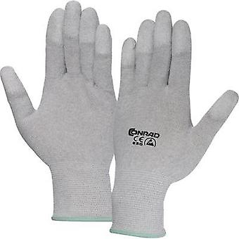 ESD glove finger-tip coating Size: S Conrad Components