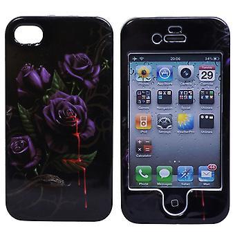 Tapa dura con rosas, la sangre y la serpiente-iPhone 4/4S