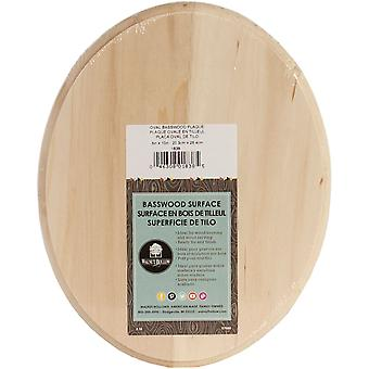 Basswood Oval Plaque-8