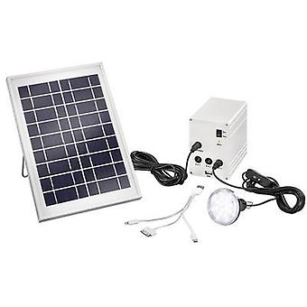 Solar kit incl. battery, incl. cable, with LED light Esotec 03005 Power 5 W