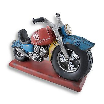 Big Wheel Motorcycle Sculpture Bottle Holder Display