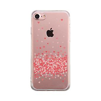 Heart Falling Down Transparent Phone Case Cute Clear Phonecase
