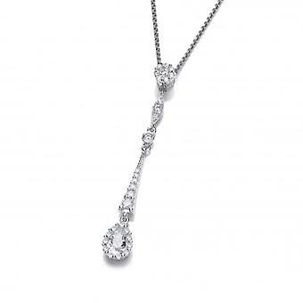 Cavendish French Silver and CZ Victorian Style Drop Pendant