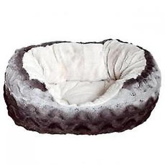 40 blink putte Bed Oval Plys grå & creme 20