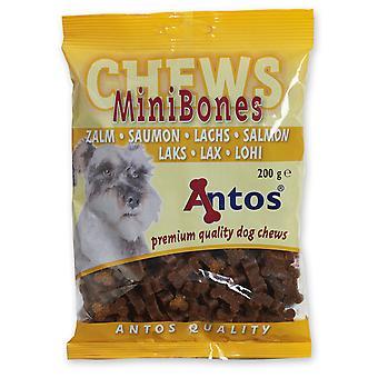Antos Mini knogler laks uddannelse godbid 200g (pakke med 14)
