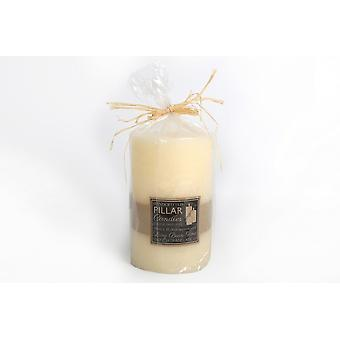 18X11.5CM HAND CRAFTED CHURCH WAX PILLAR CANDLE WHITE