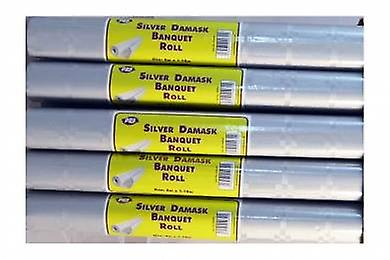 Silver Damask Banquet Roll