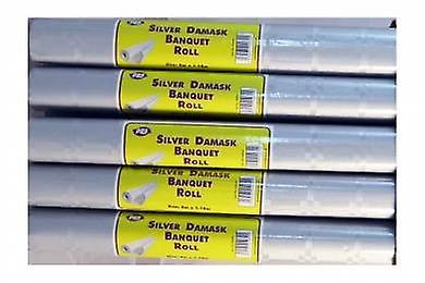 Silver Damask Banquet Roll