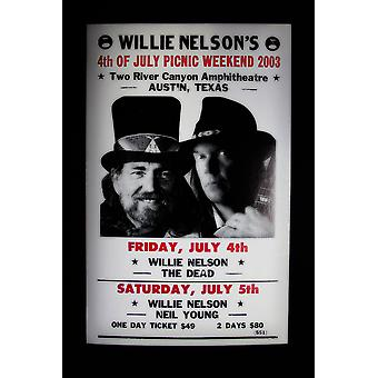 Willie Nelson retro konsert affisch