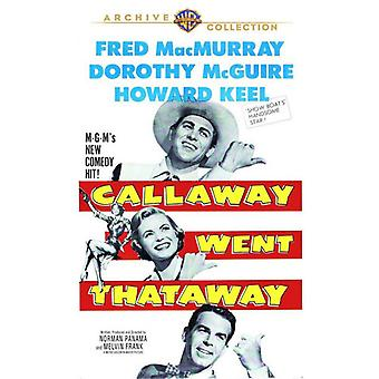 Callaway gick Thataway [DVD] USA import