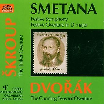 Checa Po/Sejna - Smetana: Sinfonía festiva; Festiva obertura en re mayor; Dvor K: Importación USA la astucia campesina obertura [CD]