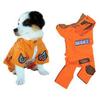 Freedog Formula1 model monkey for dogs of orange color (Dogs , Dog Clothes , Costumes)