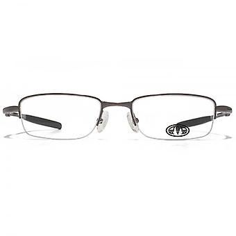 Animal Harington Oval Half Rim Glasses In Gunmetal