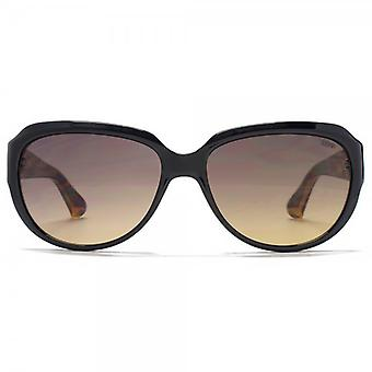 SUUNA Amy Bevel Edge Sunglasses In Black Tort Temples