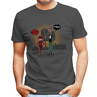 Season 2 Daredevil and Punisher Rick and Morty Men's T-Shirt