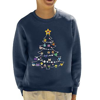 Pokemon Bulbs Christmas Tree Kid's Sweatshirt