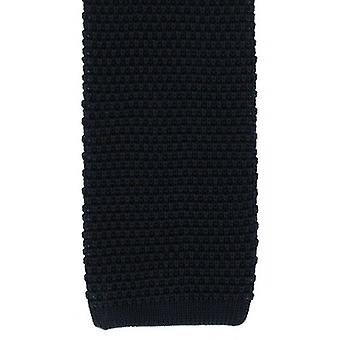 Michelsons of London Silk Knitted Tie - Navy