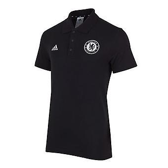 ADIDAS chelsea football BST polo shirt [black]