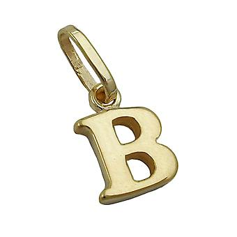 simple letter pendant gold 375 followers, letter B, 9 KT GOLD