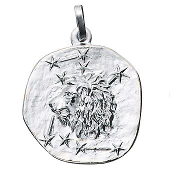 Trailer Zodiac lion 925 sterling silver frosted zodiac sign pendant