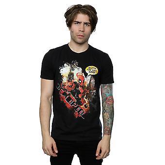 Marvel Deadpool de hombres sin la camiseta de la manera