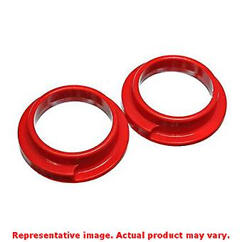 Energy Suspension Coil Spring Isolator Set 15.6103R Red Rear Upper / Lower Fits