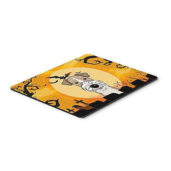Halloween-Wire Haired Fox Terrier Mousepad, Hot-Pad oder Untersetzer