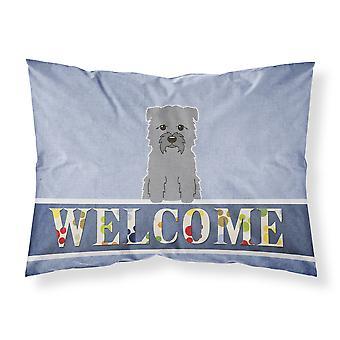 Glen of Imal Grey Welcome Fabric Standard Pillowcase