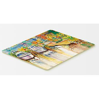 Blue Heron y cocina de barcos de pesca de mar profundo o alfombra de baño 20 x 30