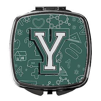 Carolines Treasures  CJ2010-YSCM Letter Y Back to School Initial Compact Mirror