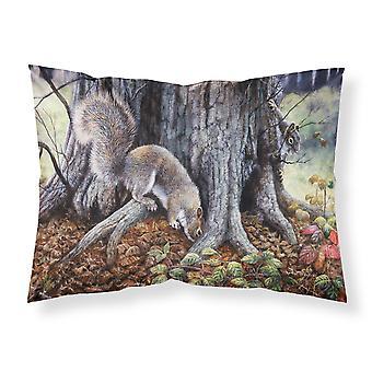 Écureuils gris autour de l'arbre tissu taie d'oreiller Standard