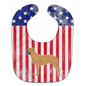 Carolines Treasures  BB3371BIB USA Patriotic Bullmastiff Baby Bib