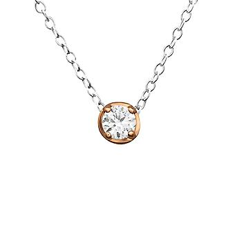 Round - 925 Sterling Silver Jewelled Necklaces - W27816x