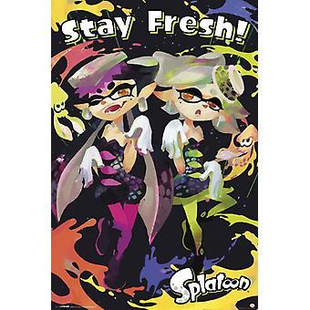 Splatoon - pobyt świeże plakat Poster Print