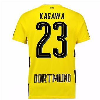 2017-18 Borussia Dortmund Home Short Sleeve Shirt (Kagawa 23)