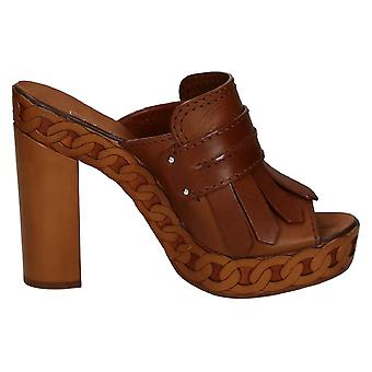 Casadei women's 8188R117FU1RANG400 brown leather heel shoes