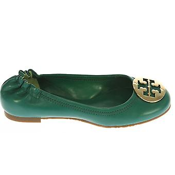 Tory Burch women's 1213800613321 green leather of ballerinas