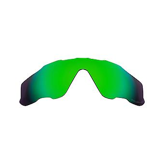 Replacement Lenses Compatible with OAKLEY JAWBREAKER Polarized Green Mirror