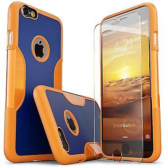 SaharaCase® iPhone 6/6s más ardiente sol naranja caso, clásico paquete Kit de protección con vidrio templado de ZeroDamage®