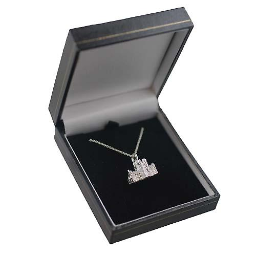 Silver 12x17mm York Minster Charm with a Rolo chain